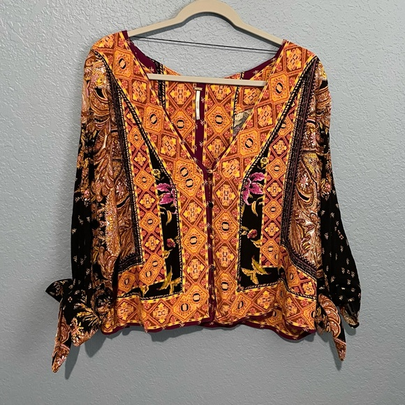 Free People Catch Me If You Can Boho Top